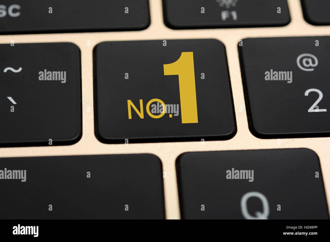 No 1 sign on keyboard key close up view stock photo royalty free 1 sign on keyboard key close up view biocorpaavc Choice Image