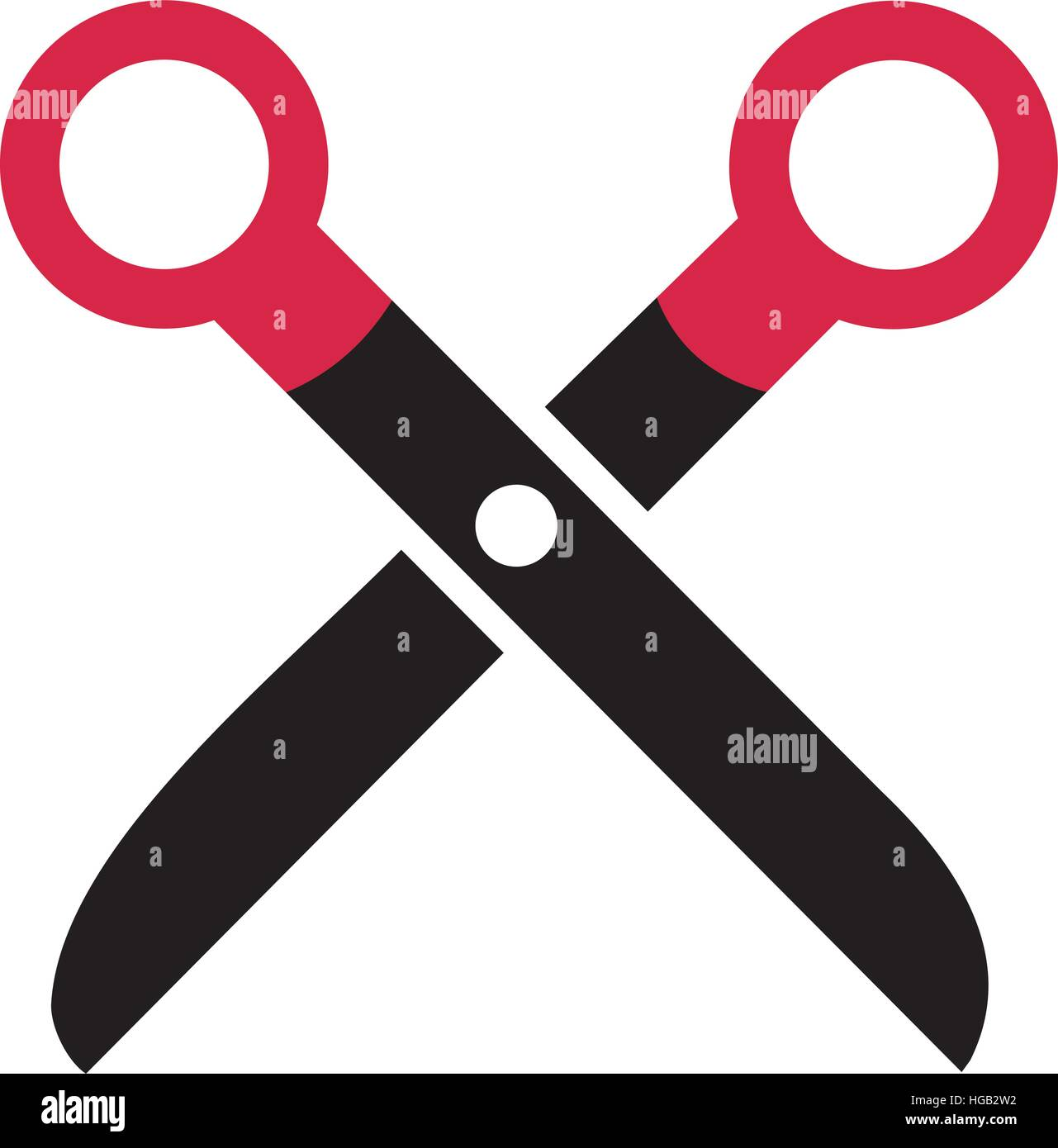 Simple scissor symbol stock vector art illustration vector simple scissor symbol biocorpaavc