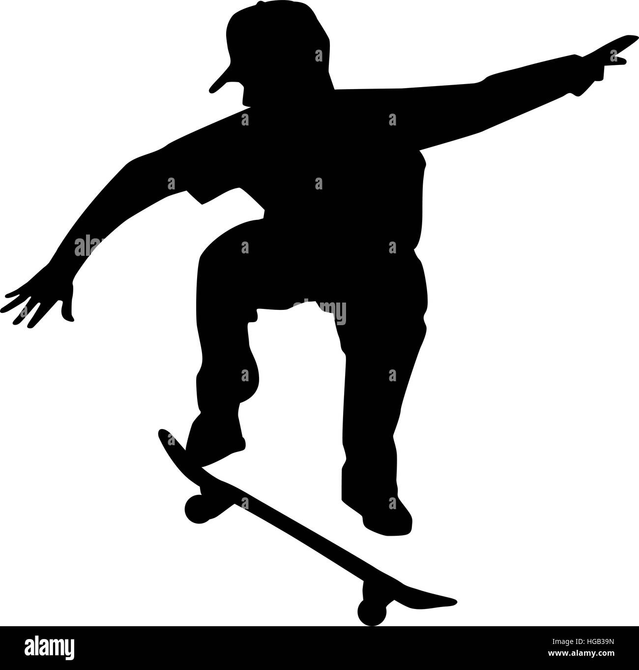 Skateboarder silhouette Stock Vector Art & Illustration ...