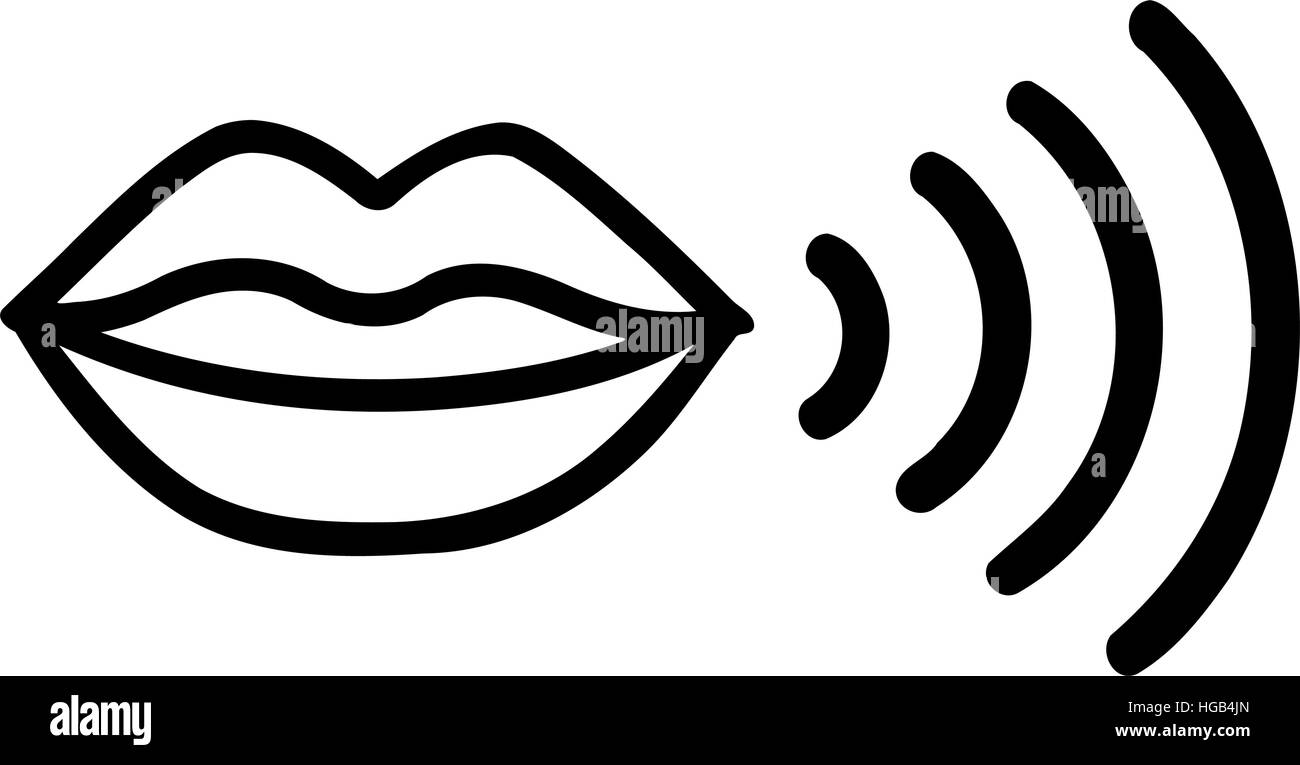 Mouth speaking icon Stock Vector Art & Illustration ...