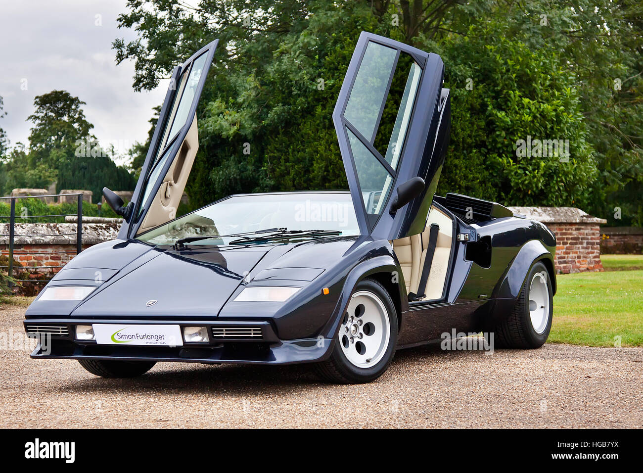 Lamborghini Countach 5000 Quattrovalvole Stock Photo