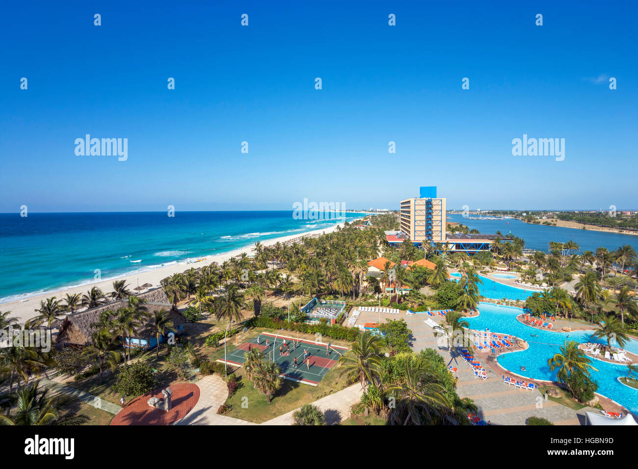 Stock photo varadero beach cuba view over the resort from the gran caribe club puntarena hotel