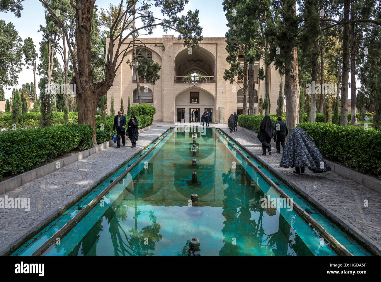Pool In Oldest Extant Persian Garden In Iran Called Fin Garden (Bagh E  Fin), Located In Kashan City