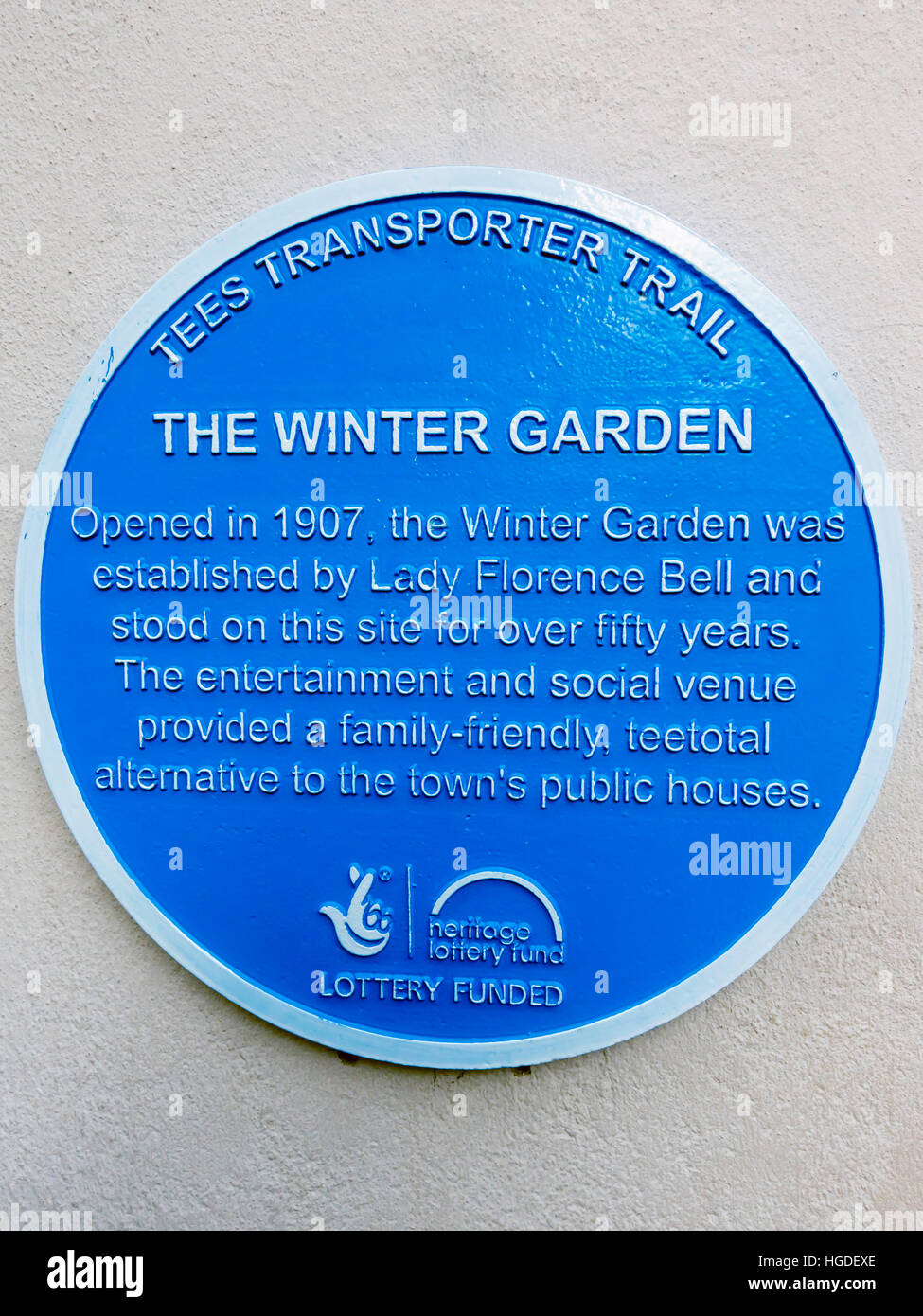 tees transporter trail blue plaque on the dundas shopping arcade