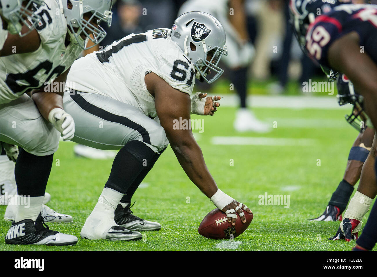 Houston Texas USA 7th Jan 2017 Oakland Raiders center Rodney