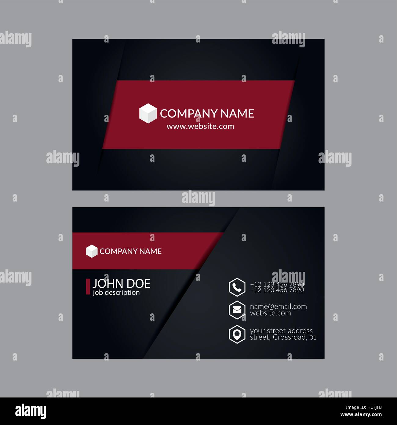 Eps10 Vector Illustration Abstract Elegant Business Card Template ...