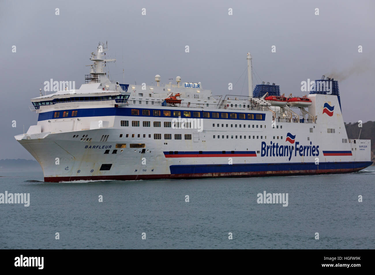 Barfleur cruise ferry ship information brittany ferries - Brittany Ferries Barfleur Leaving Poole Harbour Dorset To Cross The English Channel To Cherbourg On