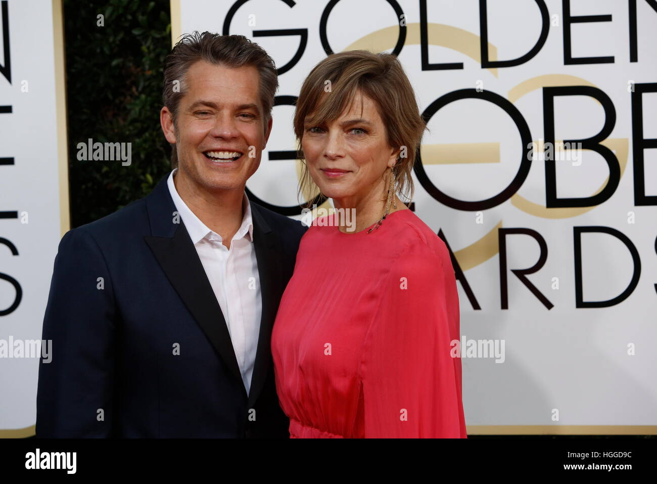 American actor Timothy Olyphant with his wife Alexis Knief