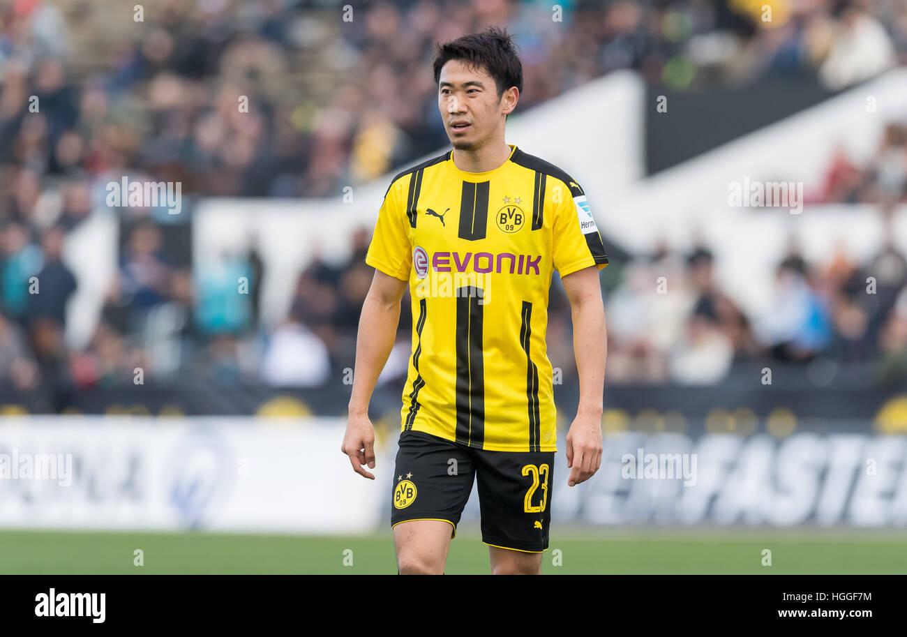 Dortmund s Shinji Kagawa reacts during the soccer test match