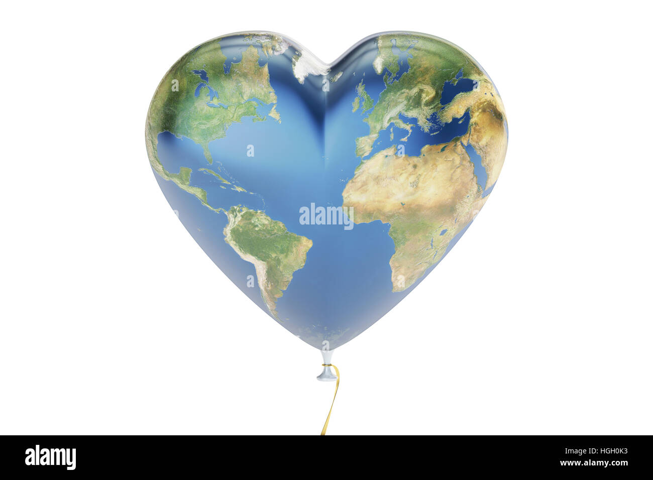Balloon in the shape of hearts with map of earth 3d rendering balloon in the shape of hearts with map of earth 3d rendering isolated on white background gumiabroncs Gallery