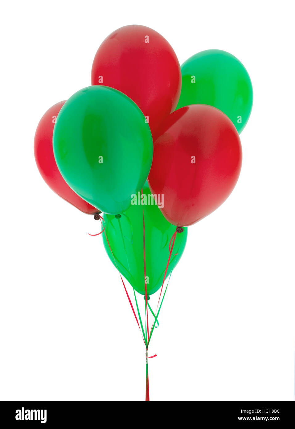 red and green helium balloons stock photo royalty free image