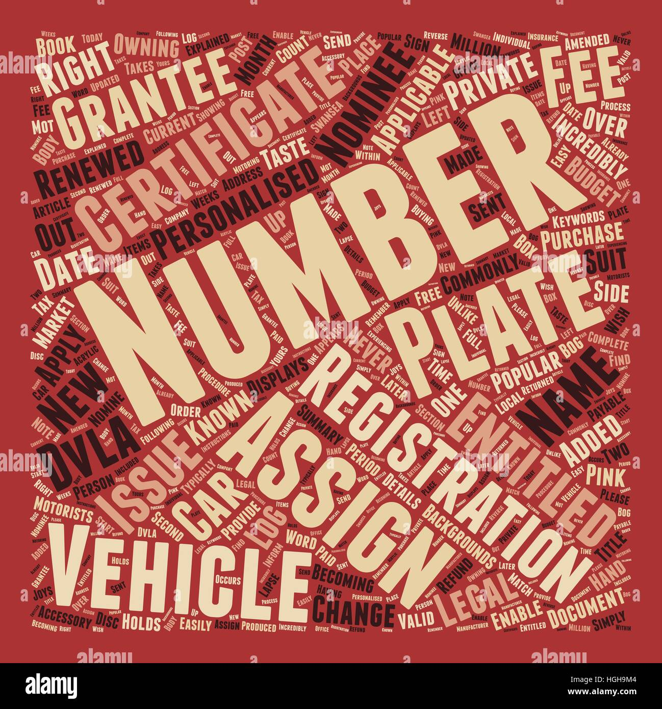 Your Personalised Number Plate Explained Certificate Of ...