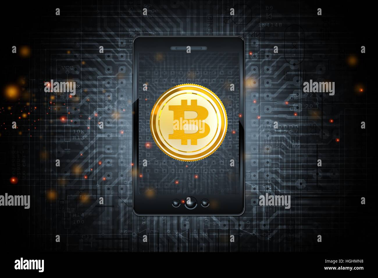 Bitcoin mobile phone transfer via bitcoin trading application bitcoin mobile phone transfer via bitcoin trading application conceptual illustration with smartphone and circuit board background buycottarizona Choice Image