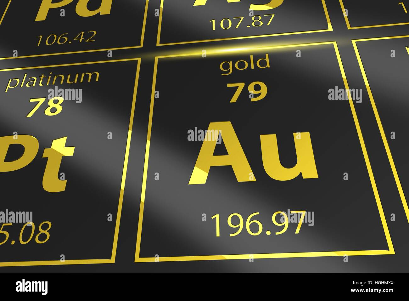 Periodic table golden au mendeleev table closeup on gold stock periodic table golden au mendeleev table closeup on gold urtaz Images
