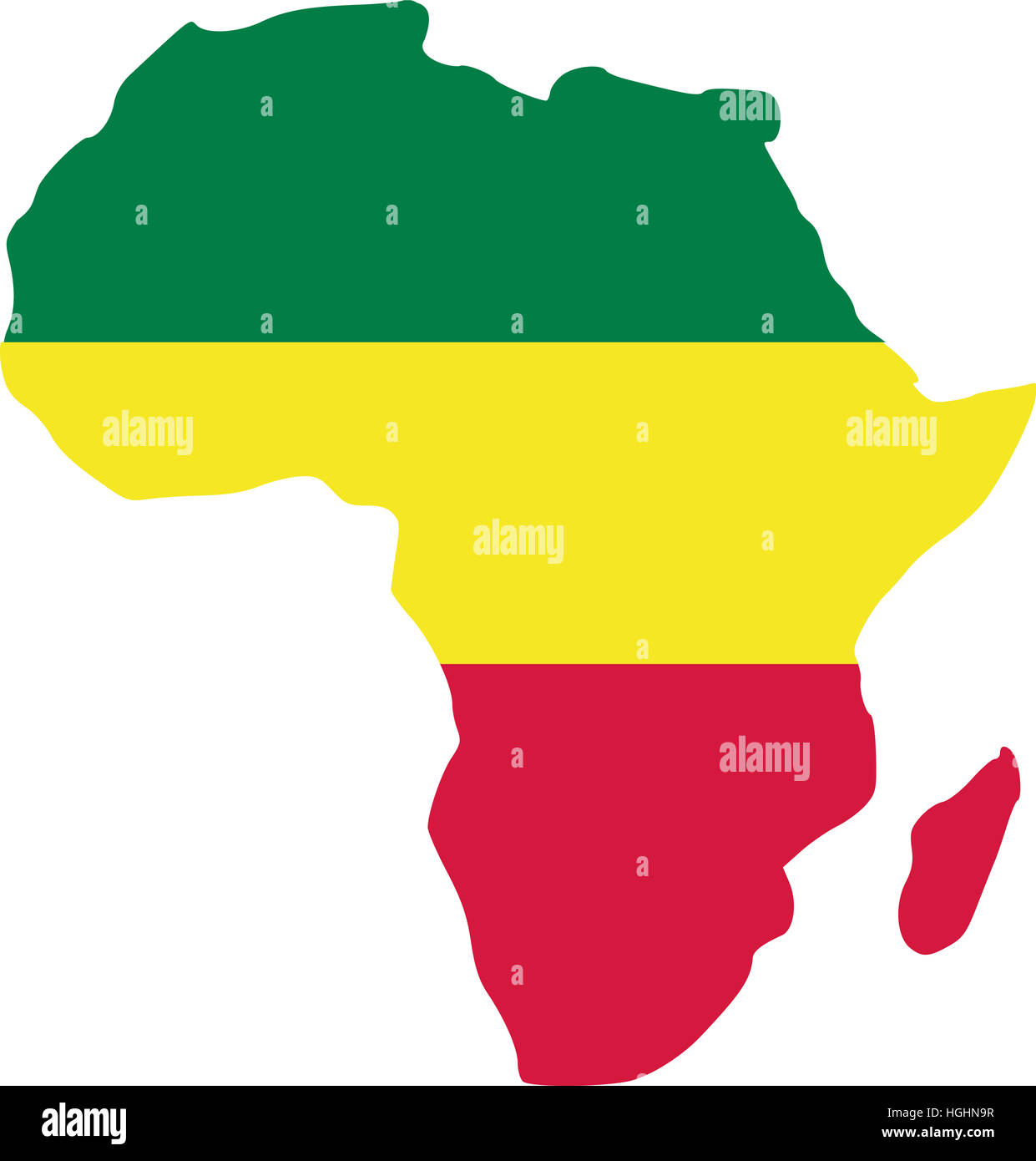 africa map in rasta colours