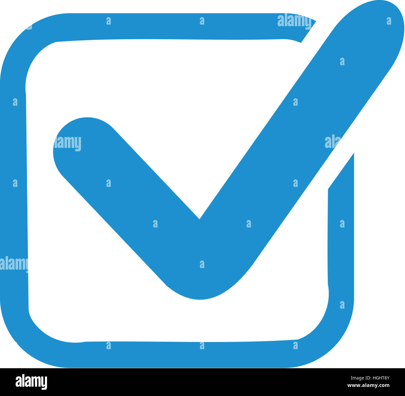 Blue Check In Box Stock Photo 130699323 Alamy
