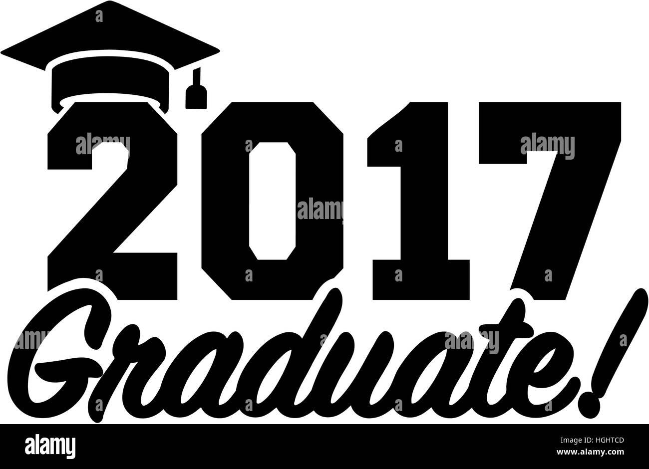 Graduation 2017 with hat Stockfoto, Lizenzfreies Bild ...