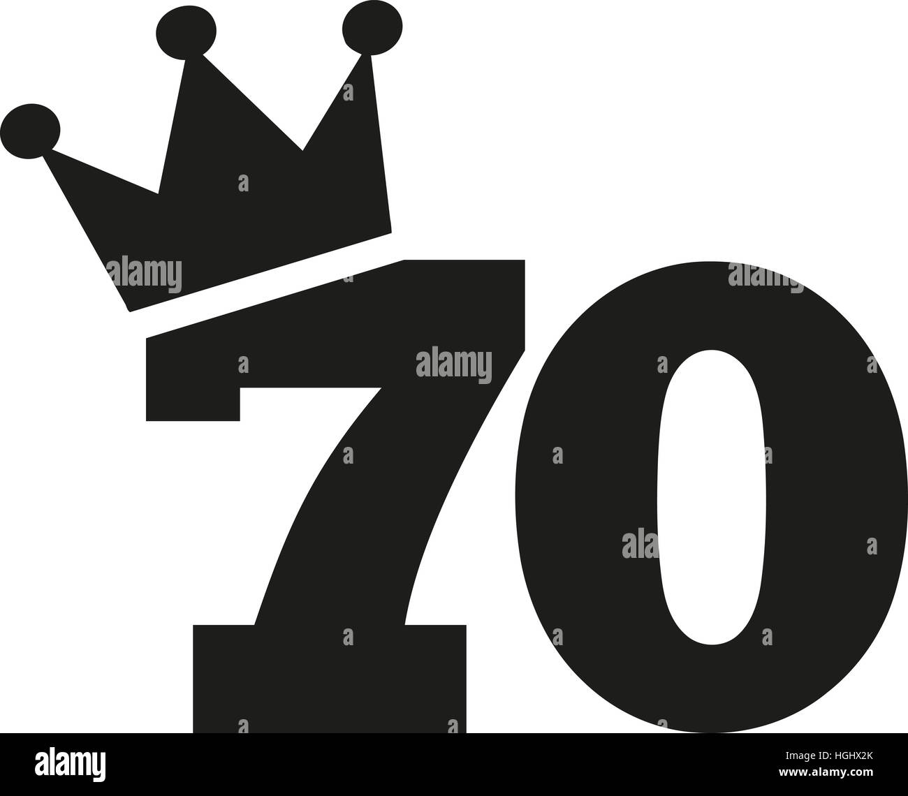 70th birthday number crown stock photo royalty free image 70th birthday number crown biocorpaavc