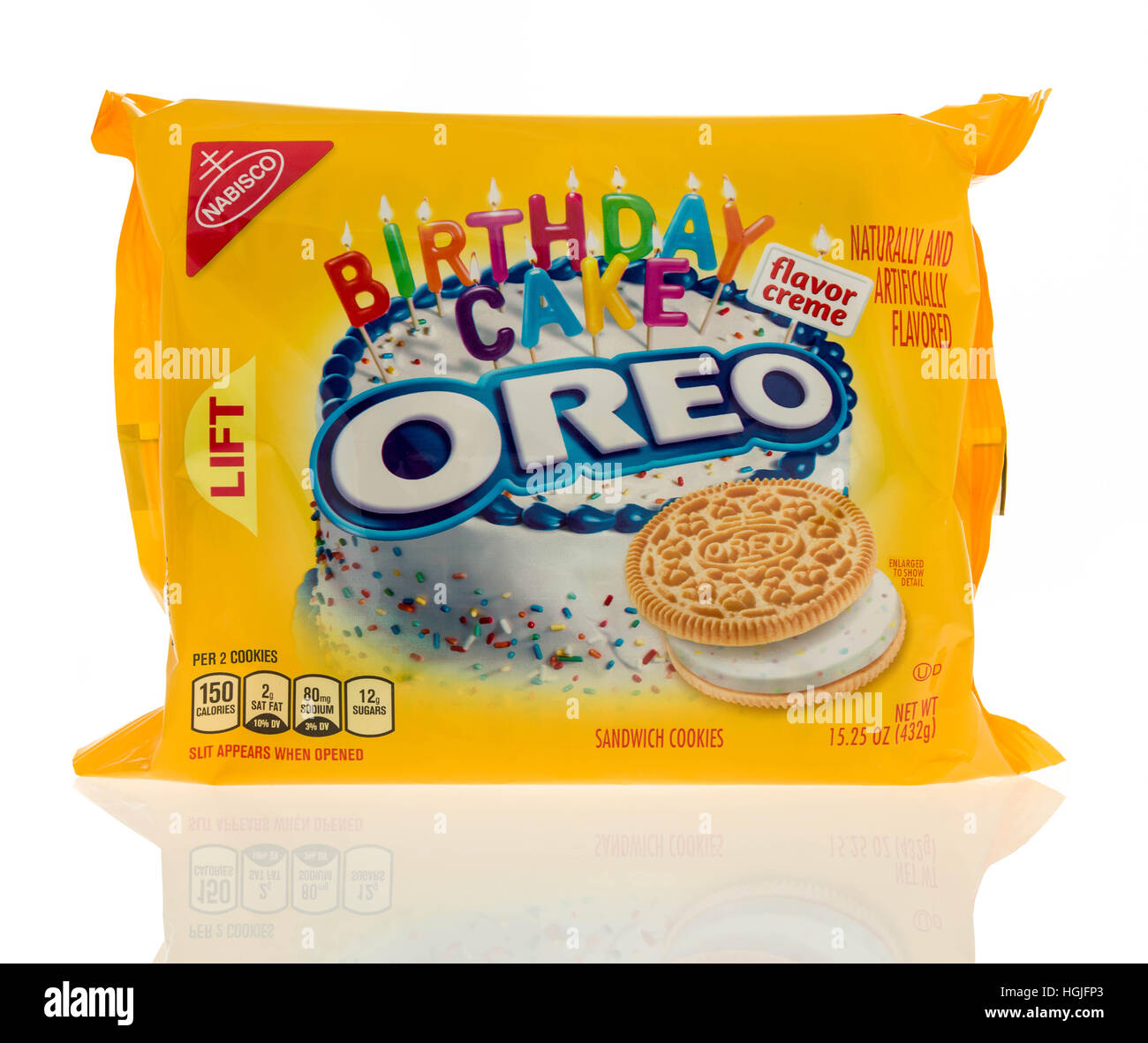 Winneconne WI 7 January 2017 Package of Golden Oreo birthday