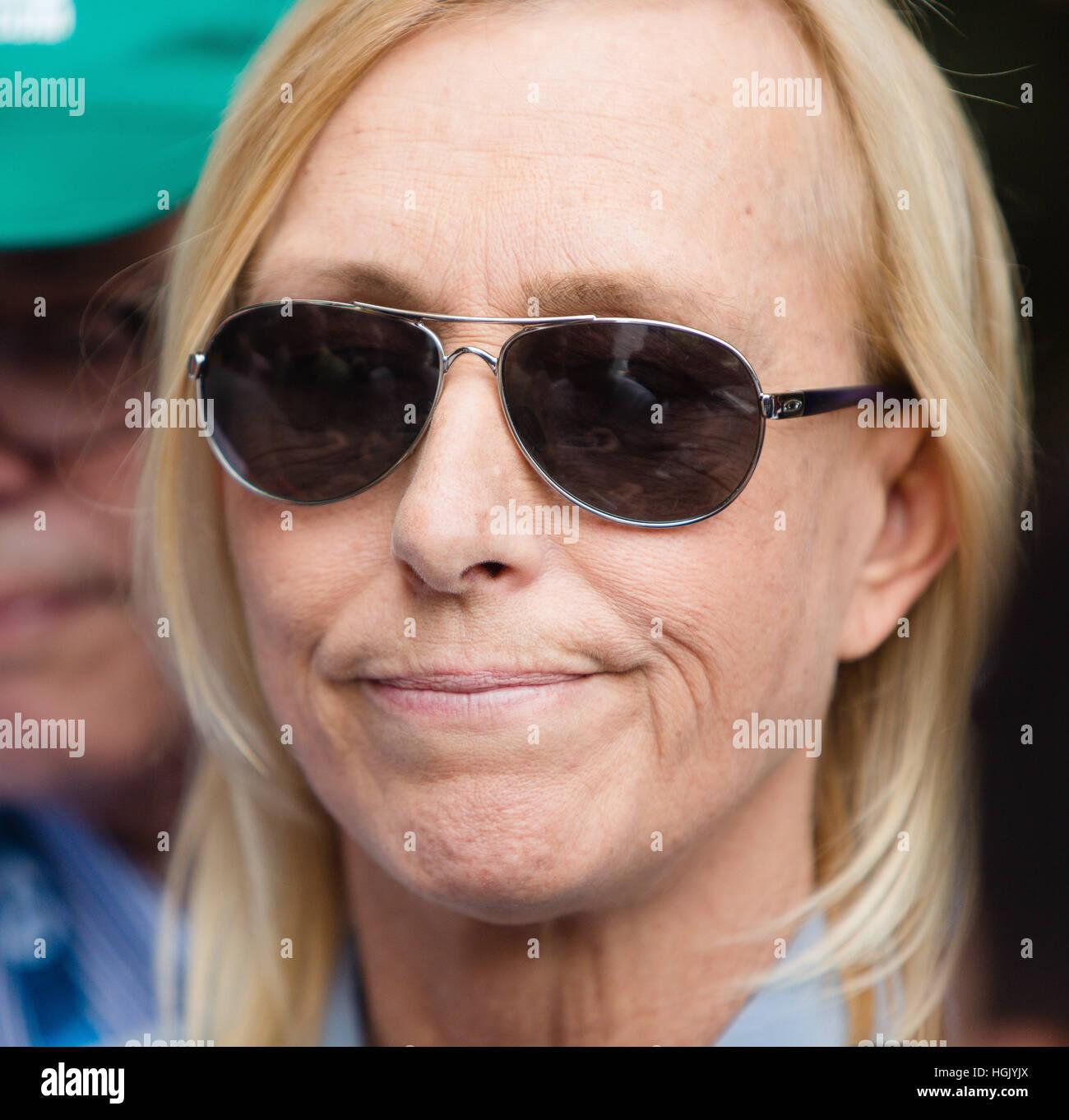 Melbourne Australia 23rd Jan 2017 Martina Navratilova talks to