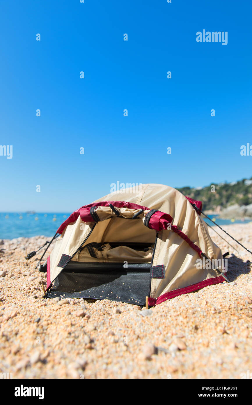 Dome tent at the beach  sc 1 st  Alamy & Dome tent at the beach Stock Photo Royalty Free Image: 130731385 ...