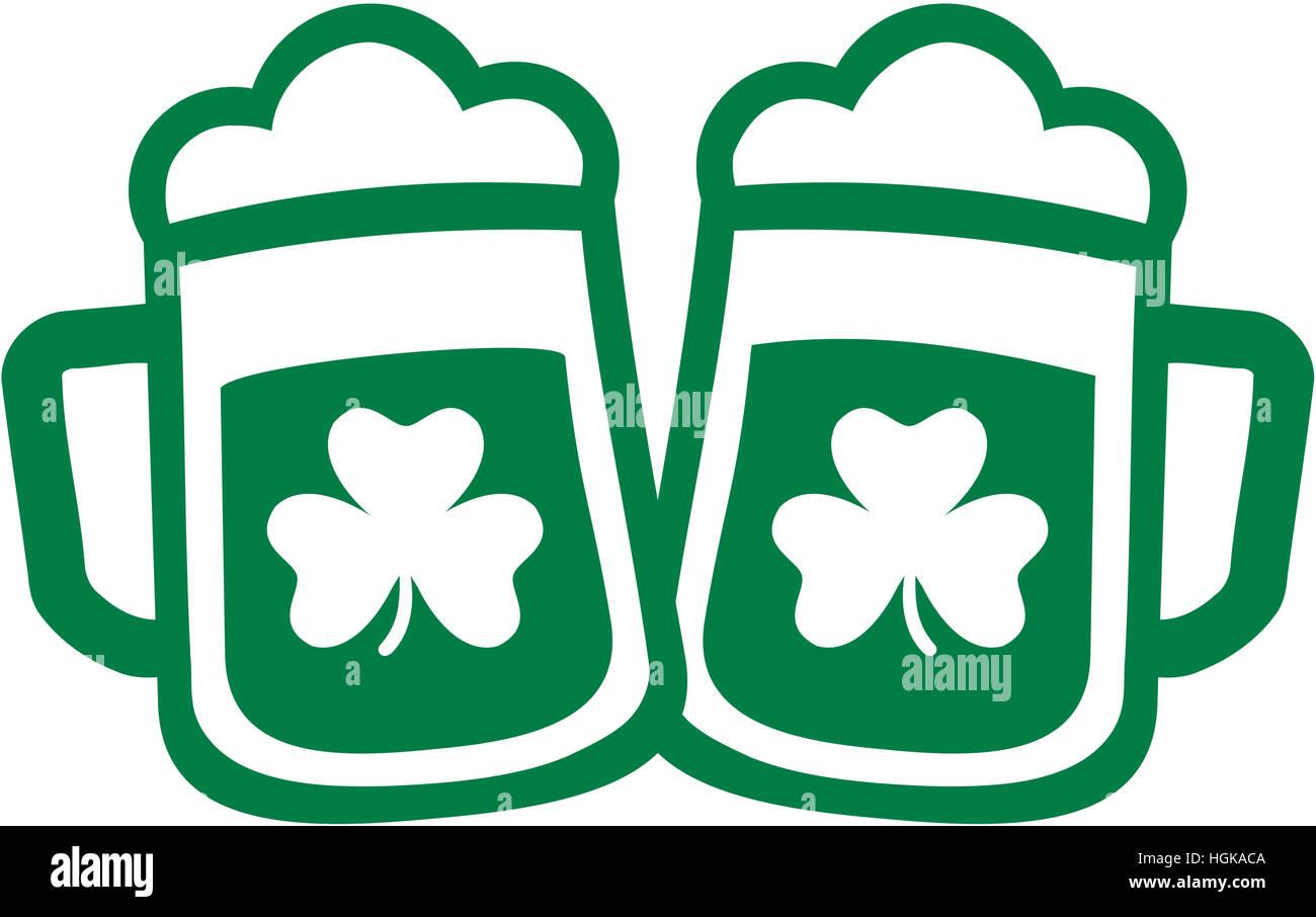 Irish beer mugs with shamrock stock photo 130732346 alamy irish beer mugs with shamrock biocorpaavc Gallery