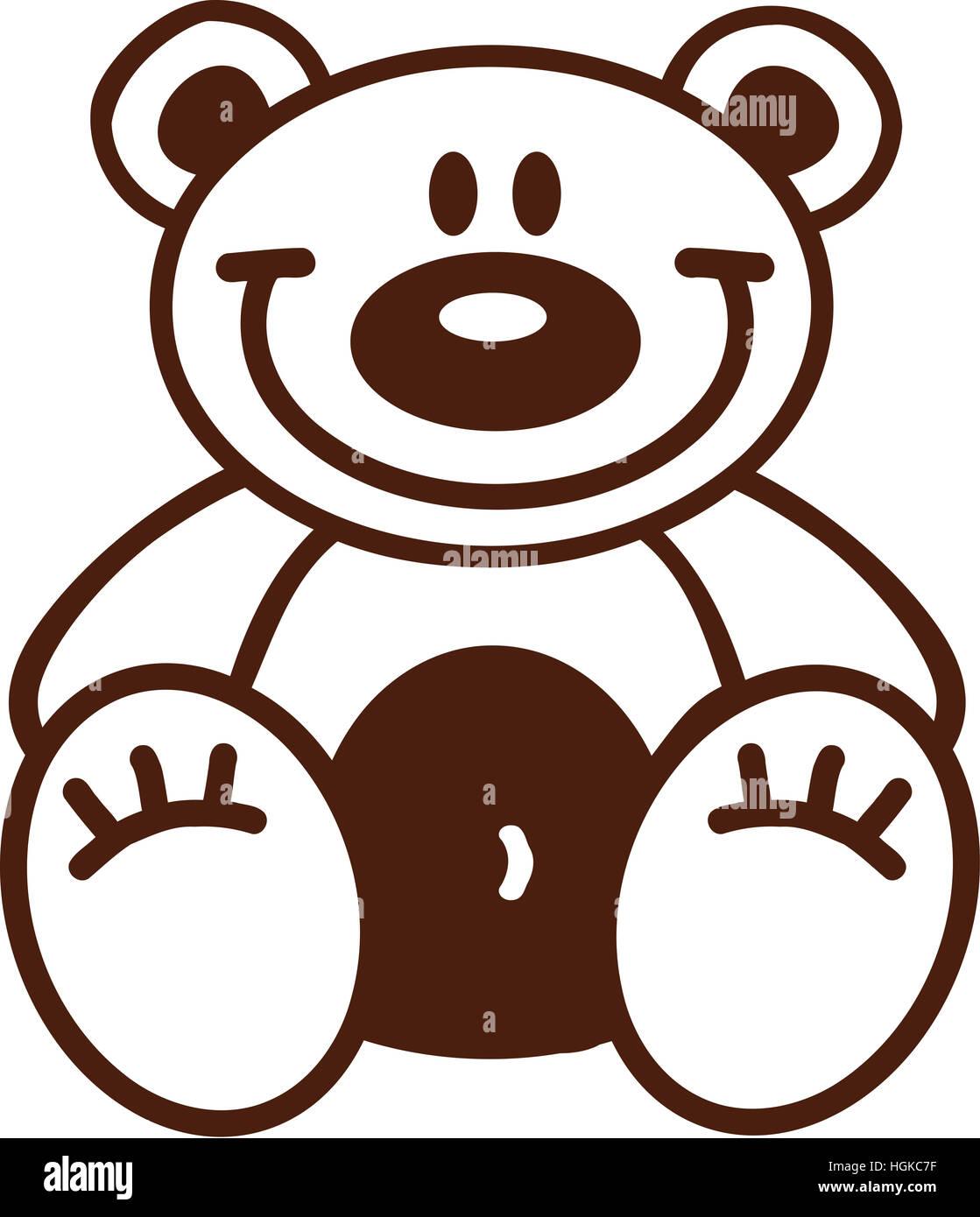 Cartoon teddy bear outline Stock Photo Royalty Free Image