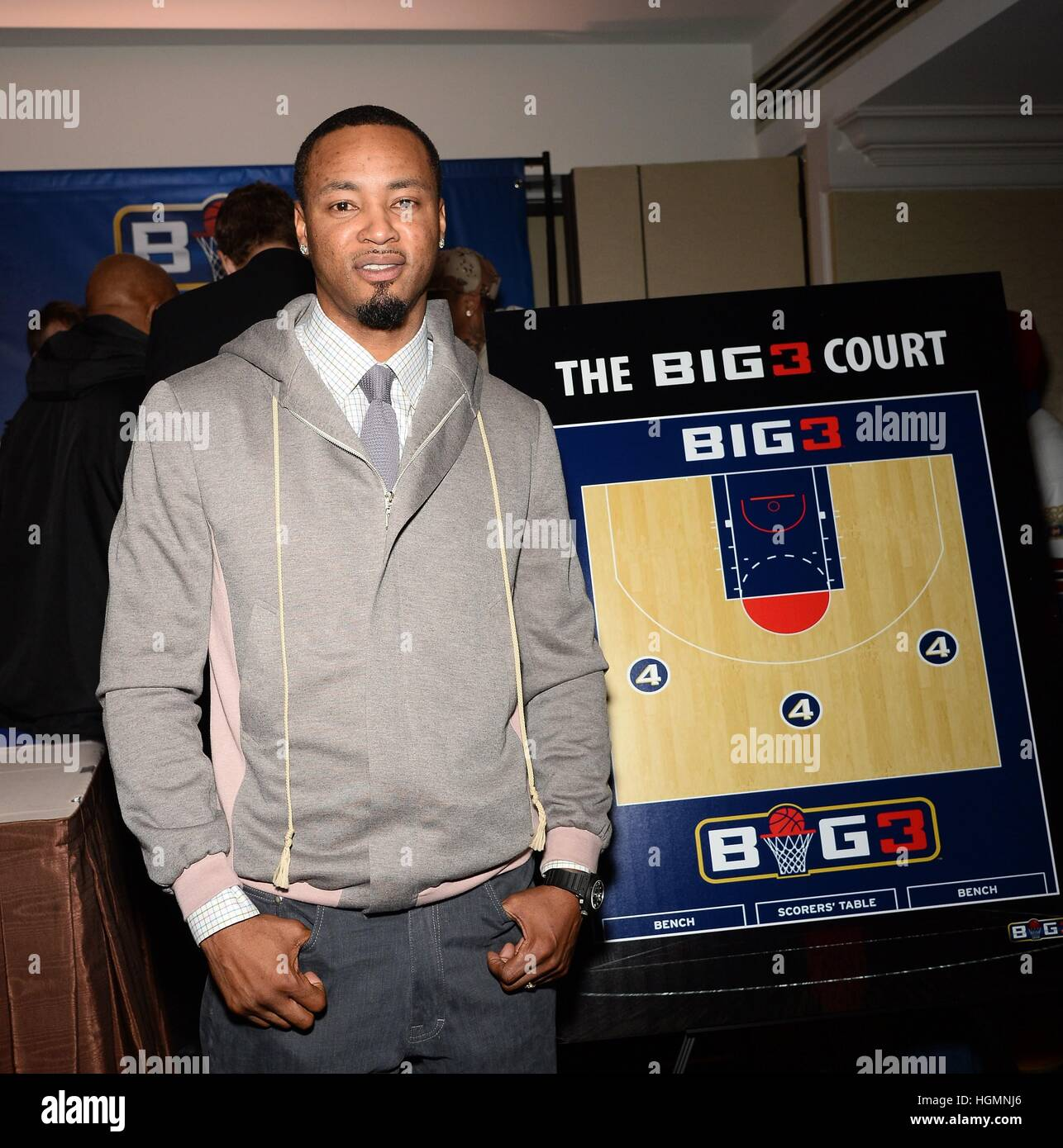 New York NY USA 11th Jan 2017 Rashard Lewis at the press