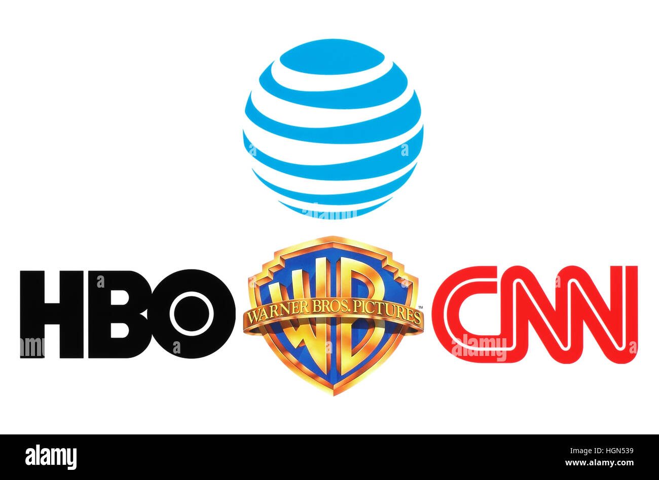 Kiev ukraine october 26 2016 collection of popular logos of kiev ukraine october 26 2016 collection of popular logos of att inc warner bros hbo and cnn on white paper buycottarizona