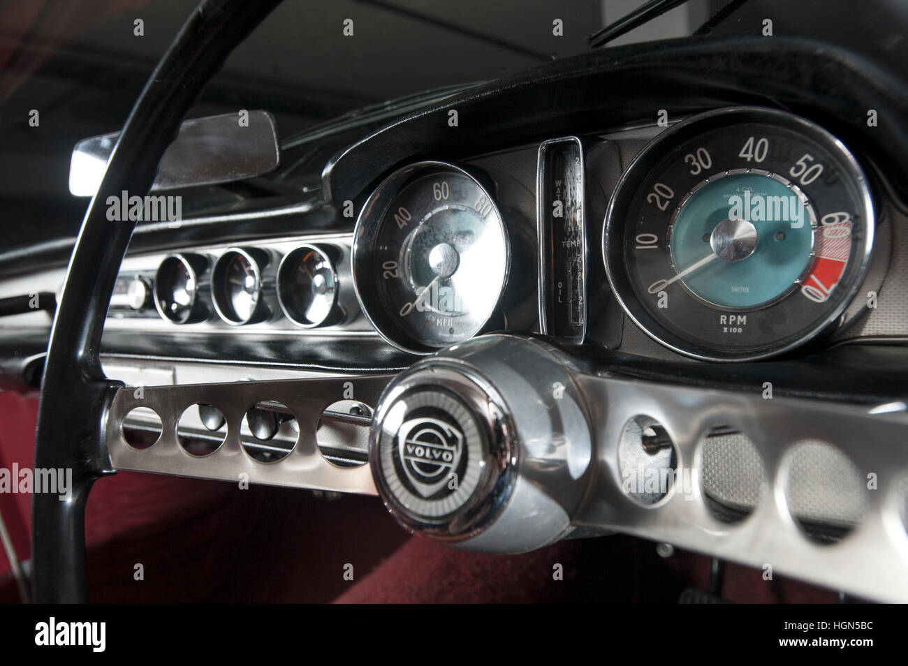 Cool S Dashboard Of A Volvo P Classic Swedish Sports Car - Cool car dashboards