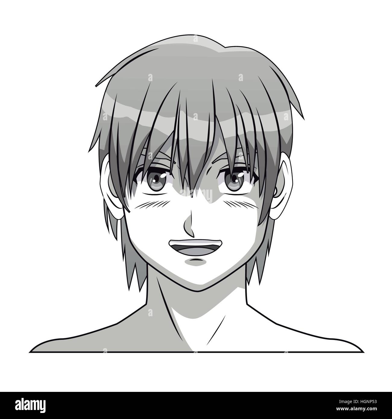 face boy anime manga comic smile young
