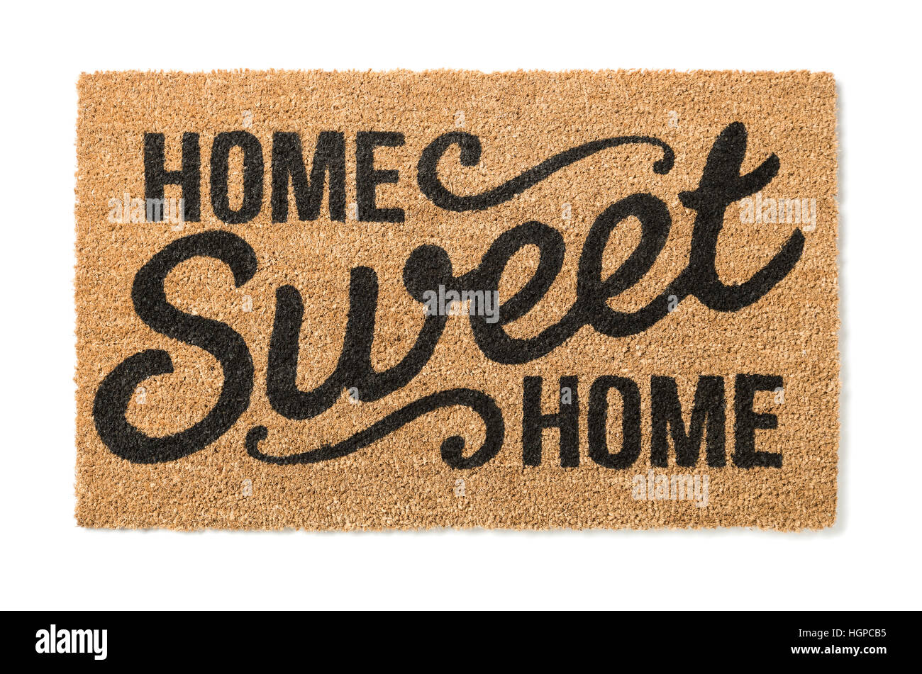 Home Sweet Home Welcome Mat Isolated On A White Background.   Stock Image
