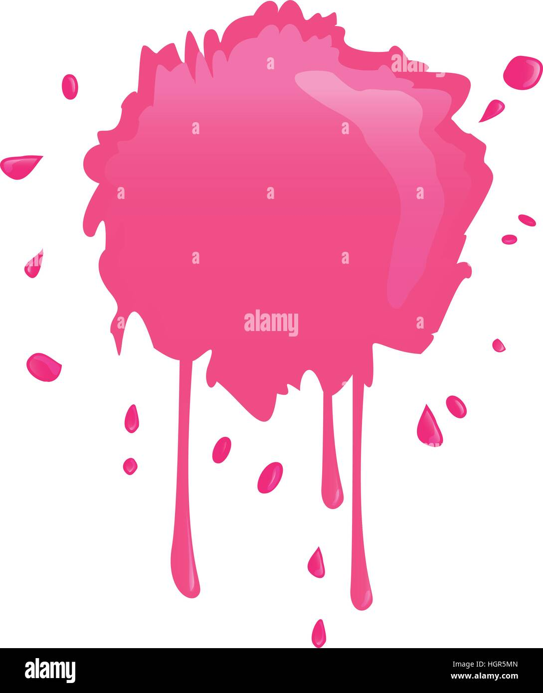 Bright Pink Paint Hot Pink Paint Splatter Icon Image Vector Illustration Design