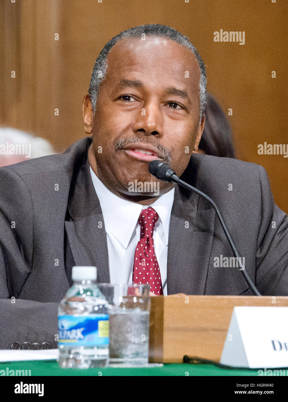 washington, usa. 12th jan, 2017. dr. benjamin carson testifies