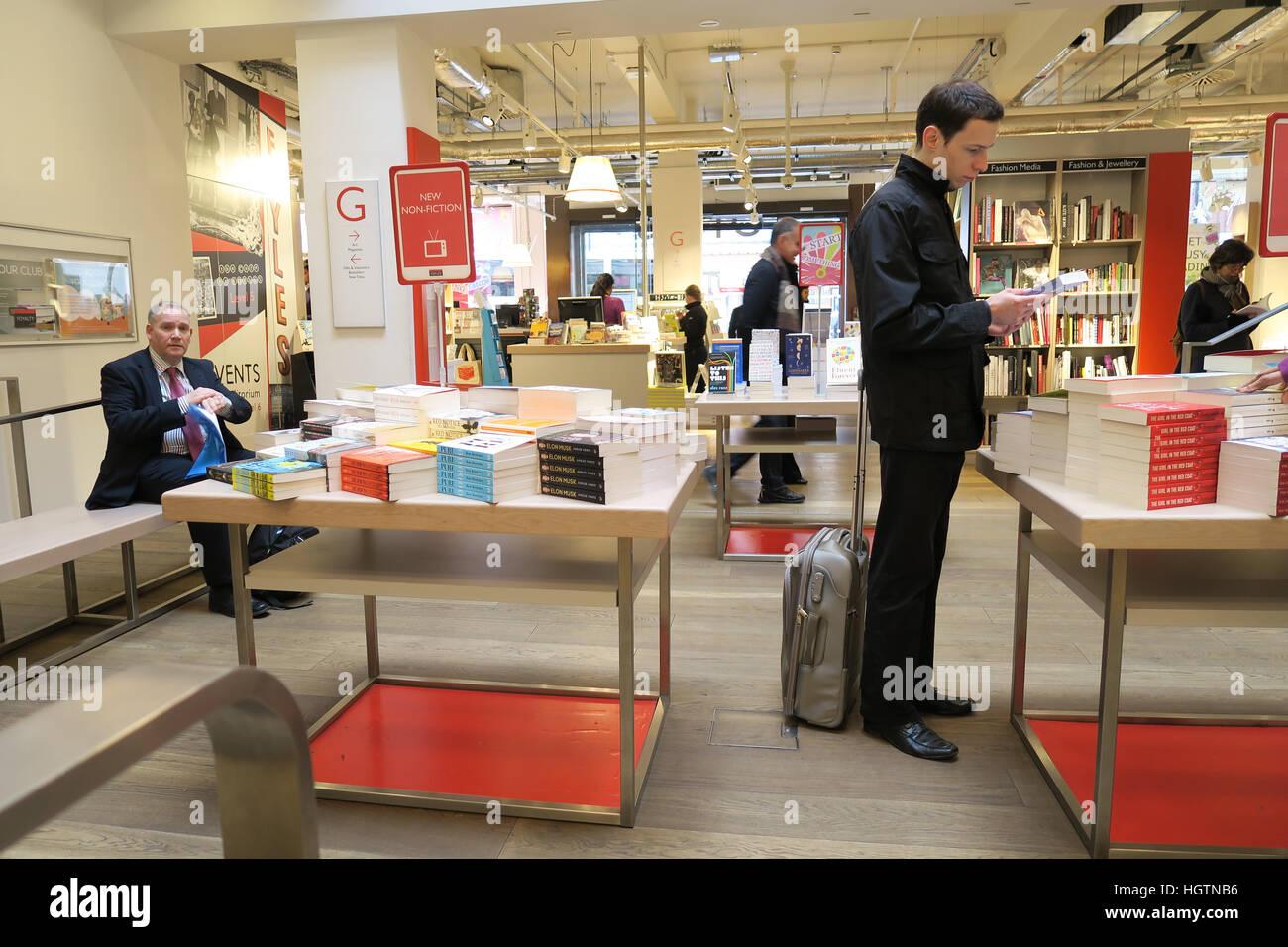 Interior Foyles Bookshop In Charing Cross Road London England