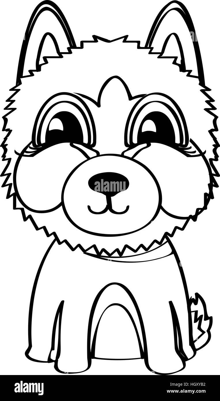 siberian husky vector illustration stock vector art