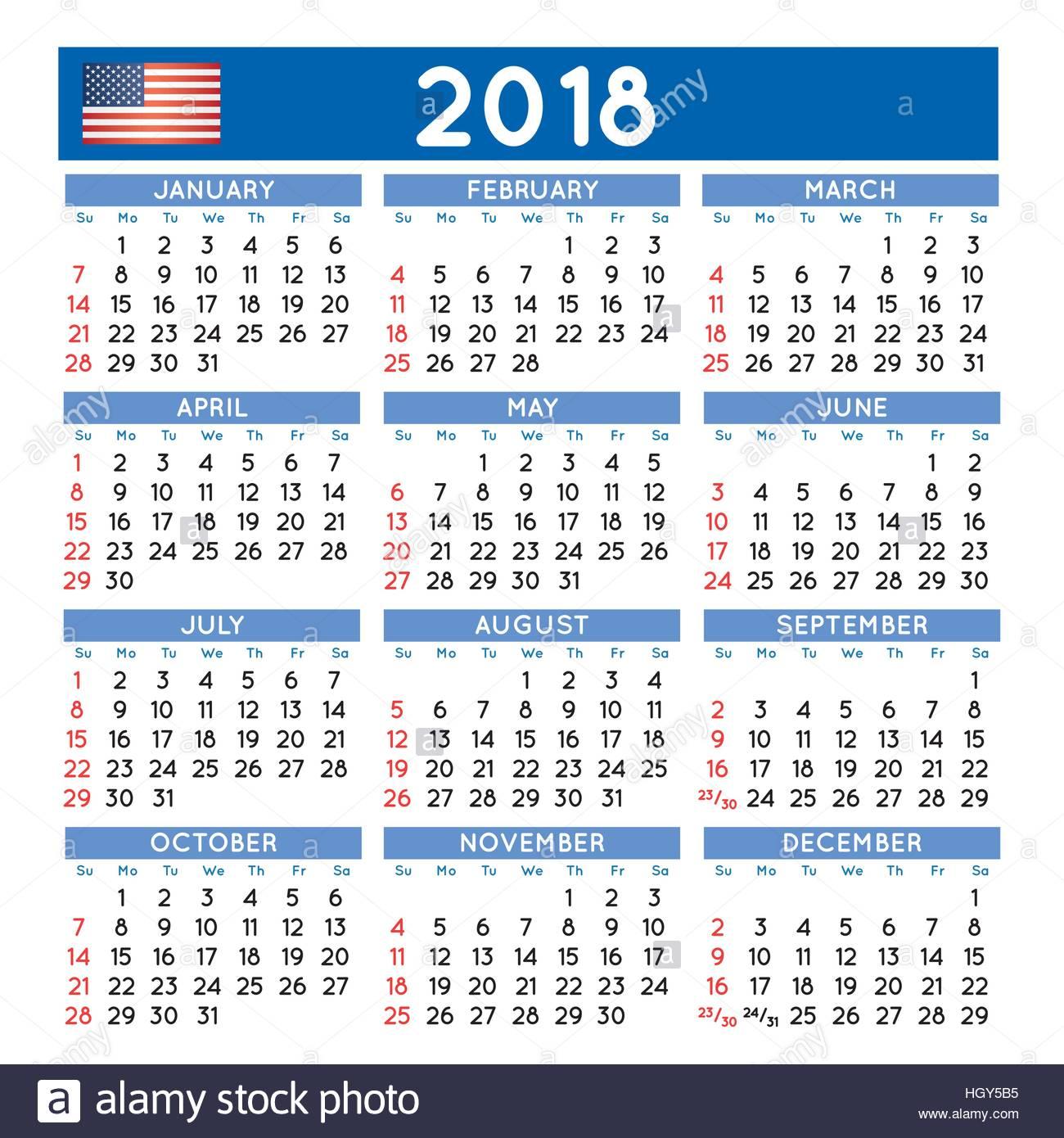 2018 calendr