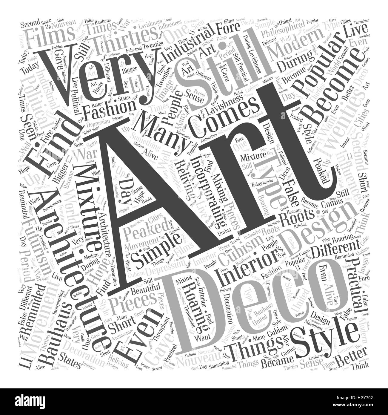 Art Deco And Architecture Word Cloud Concept