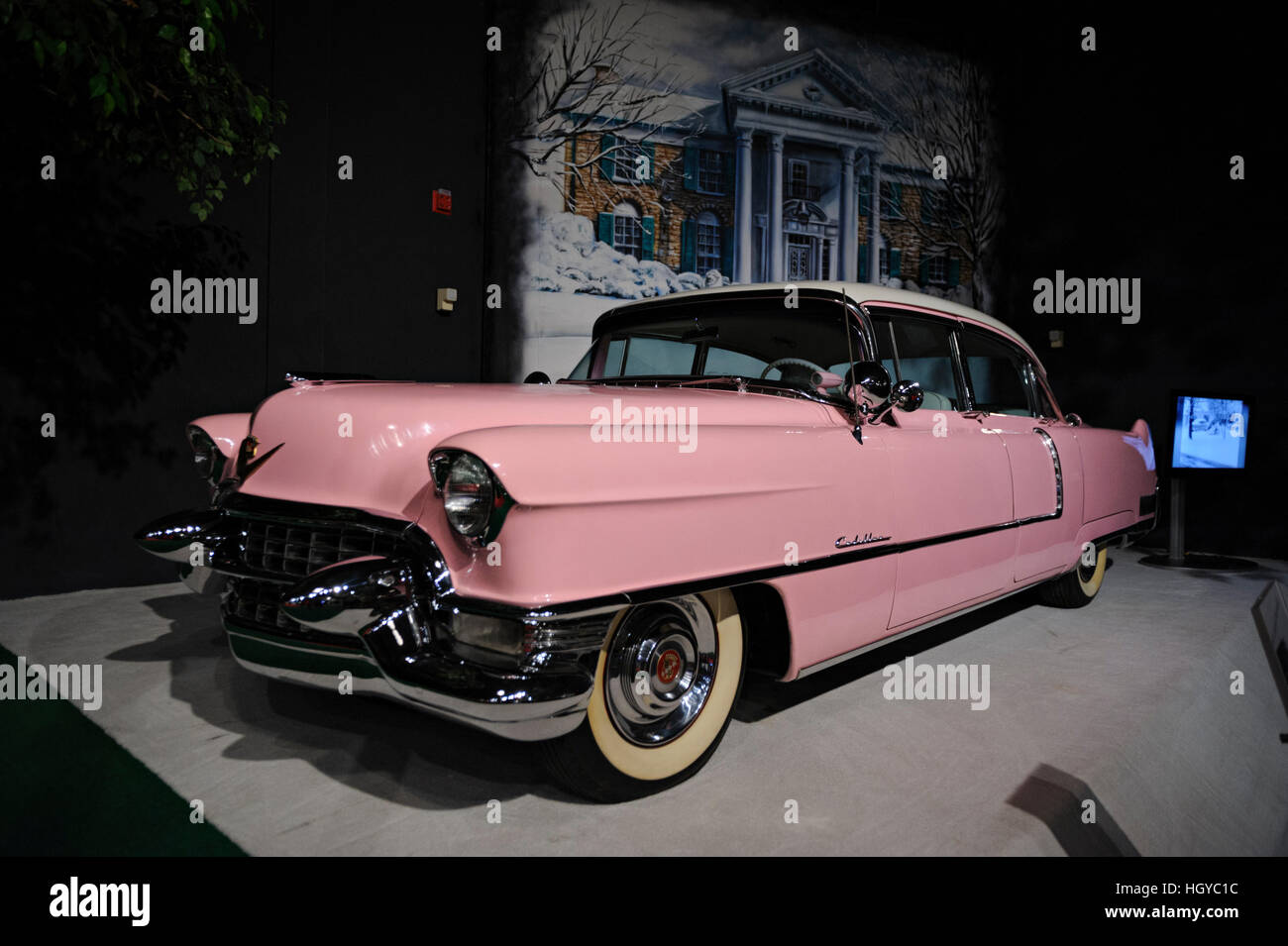 Classic American Car On Display At The Elvis Presley