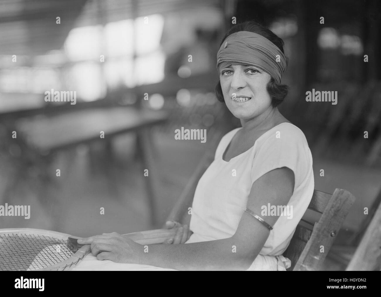 Suzanne Lenglen French Tennis Player Portrait Seated Bain News