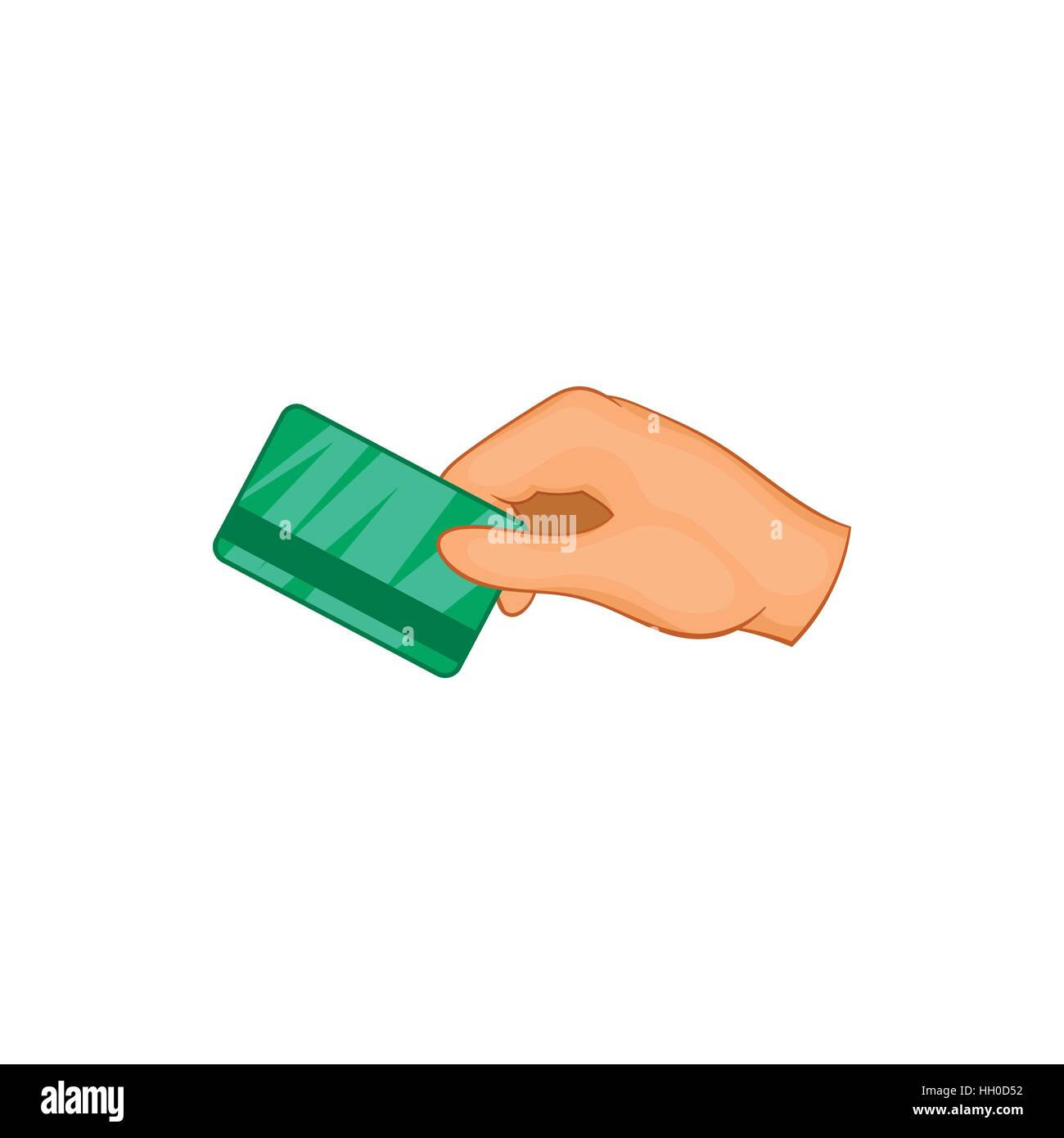 Hand with hotel room key card icon stock vector art illustration hand with hotel room key card icon ccuart Images