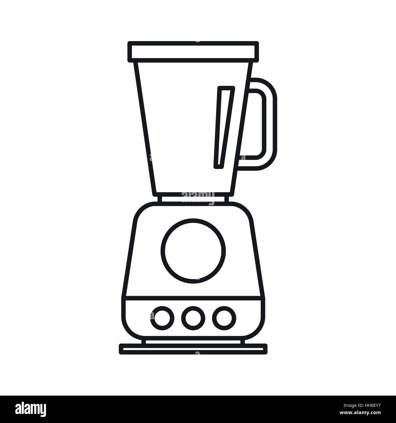 Electric Mixer Outline ~ Food processor mixer blender icon outline style stock