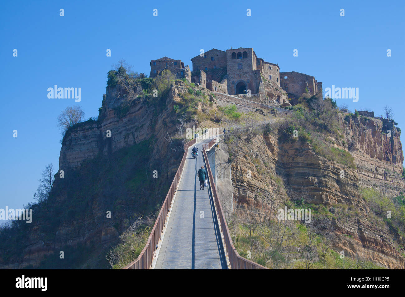 View of Civita di Bagnoregio (Viterbo, Italy Stock Photo ...