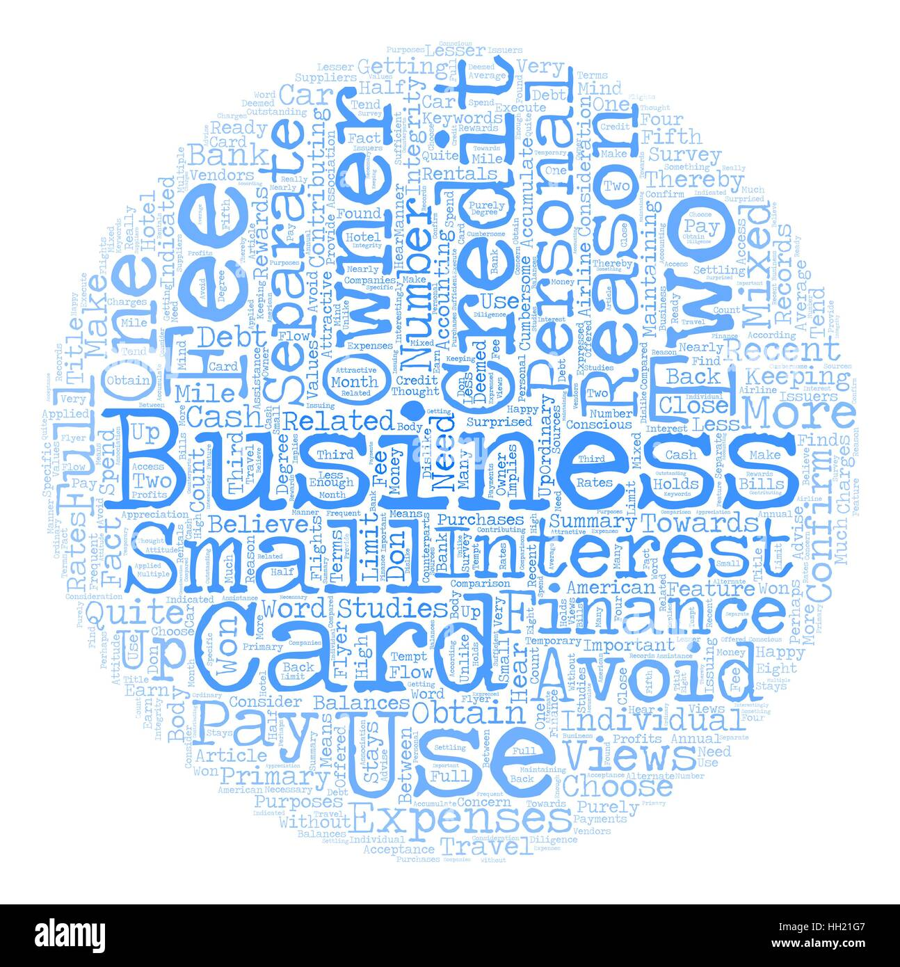 Business Owners Views of Business Credit Cards text background Stock ...