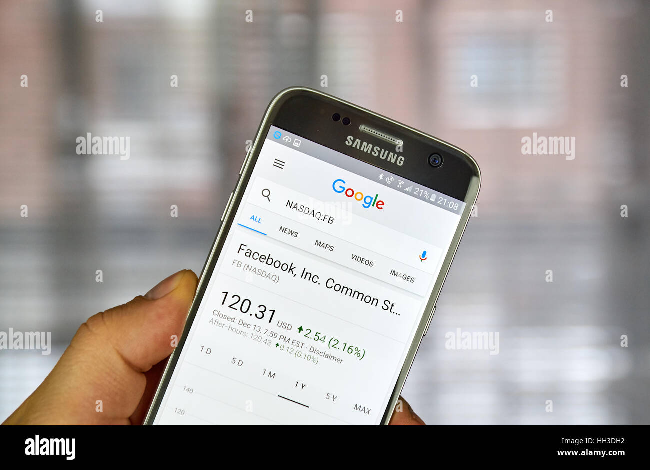 Montreal canada december 23 2016 google finance page with montreal canada december 23 2016 google finance page with stock chart and fb ticker on samsung s7 screen biocorpaavc