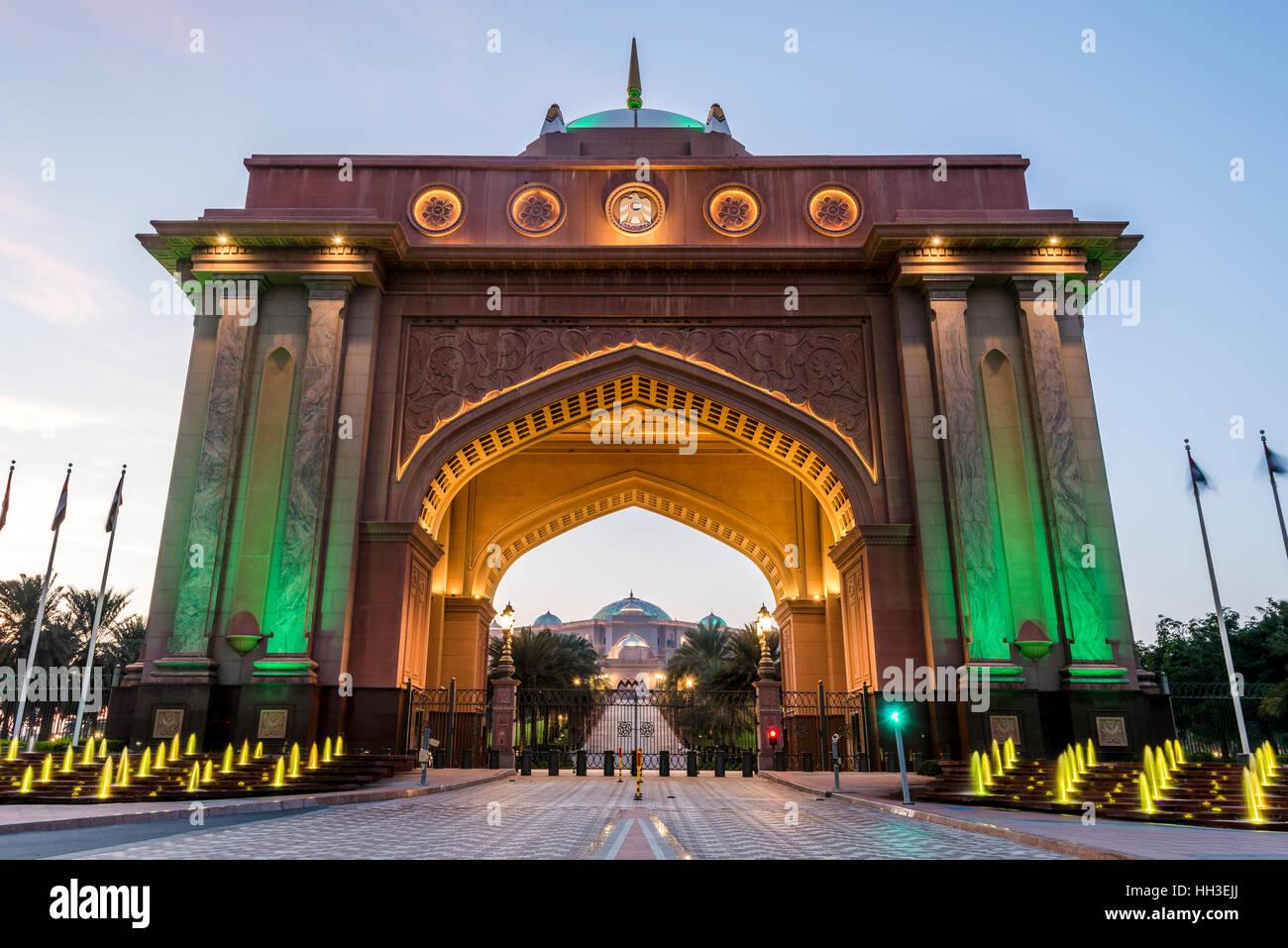 Emirates Palace Gate House. Entrance to the Emirates Palace ...