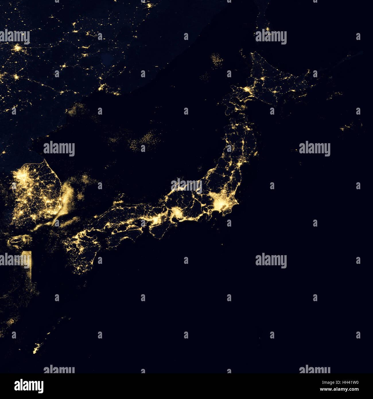 City lights on world map japan stock photo royalty free image city lights on world map japan gumiabroncs Choice Image