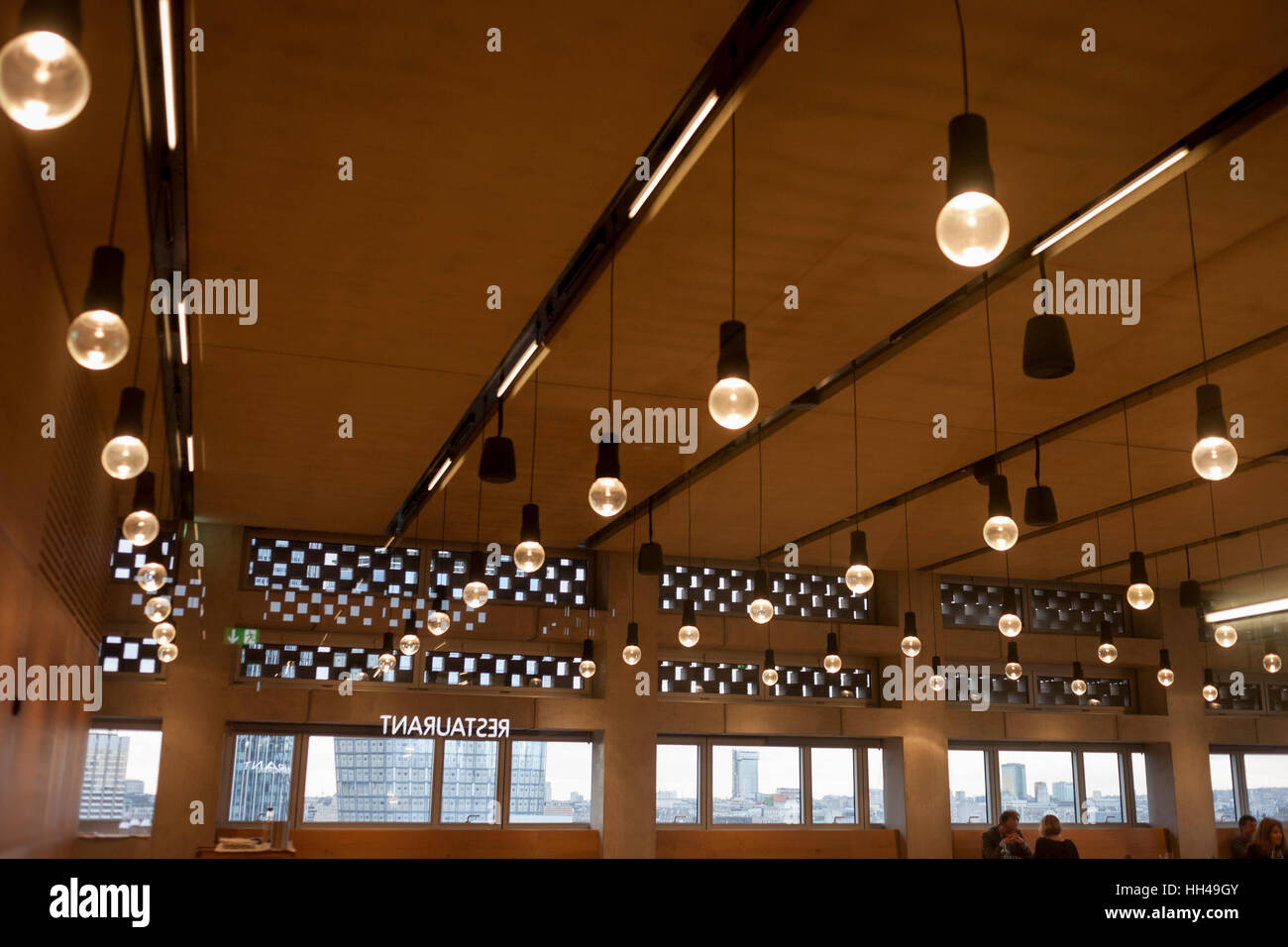ceiling design at the restaurant in tate modern art gallery, on