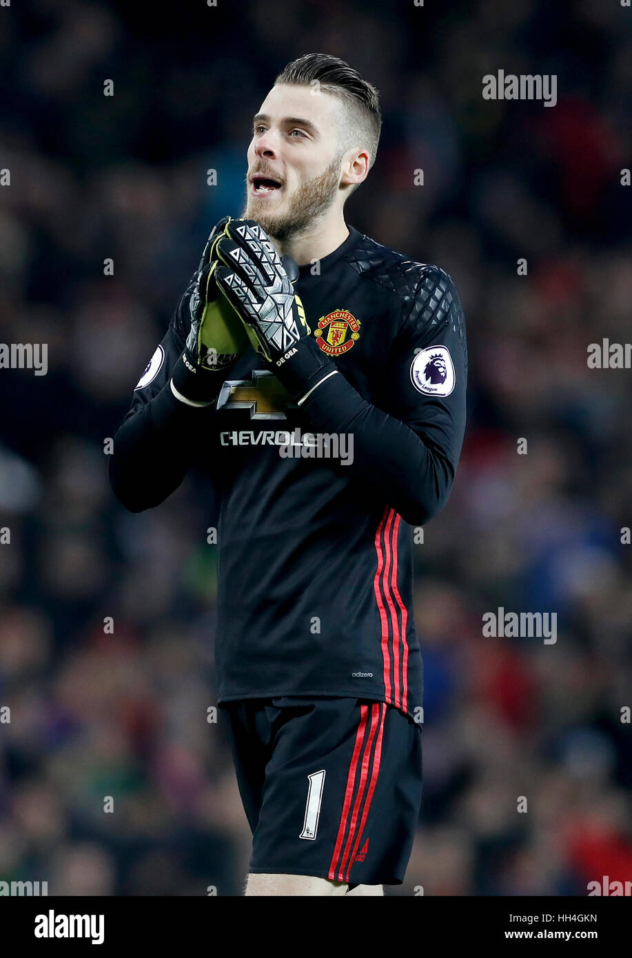 Manchester United goalkeeper David De Gea Stock Royalty