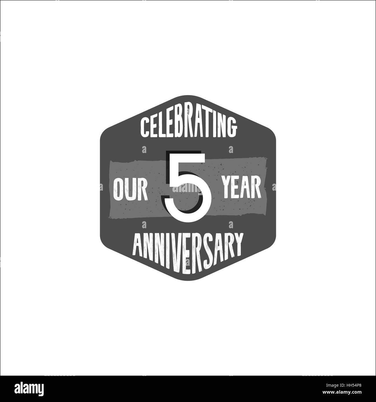 Celebrating 5 year anniversary badge sign and emblem in retro celebrating 5 year anniversary badge sign and emblem in retro color style easy to edit and use your number text vector illustration isolate on whi biocorpaavc Gallery